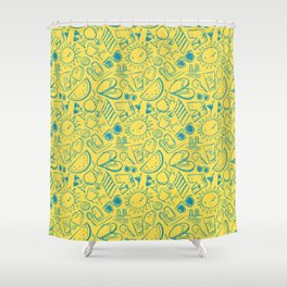 In Summer: Yellow Shower Curtain