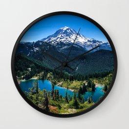 Tolmie Peak Mt Rainier Eunice Lake Wall Clock