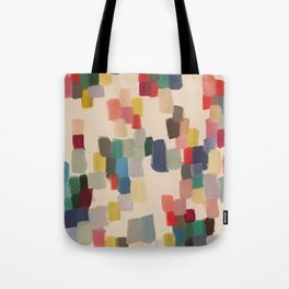 Colorful happy cheerful abstract painting Tote Bag