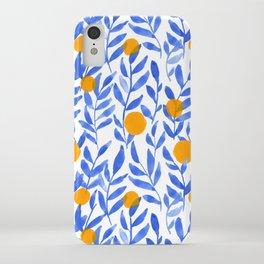 Tropical Lemons / Blue and Yellow Refreshing Lemon Print / Abstract Lemon Vibes / Summer Lemons iPhone Case