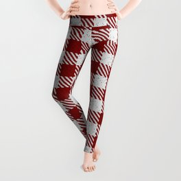 Maroon Buffalo Plaid Leggings