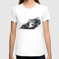 cafe racer T-shirts featuring RACER 19 by Ernie Young