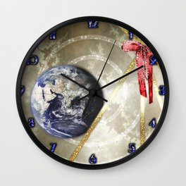 Cosmic Four of Wands Wall Clock