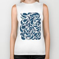 whales Biker Tanks featuring Whales by Amanda Lima