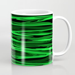 Lime Green and Black Stripes Coffee Mug