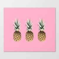 pineapples Canvas Prints featuring Pineapples by Yilan