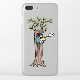 Rude Bird Clear iPhone Case