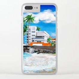 Isla Verde - $1M View, Carolina, San Juan, Puerto Rico Clear iPhone Case