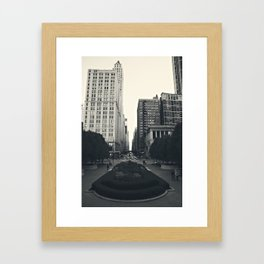 Gray Framed Art Print