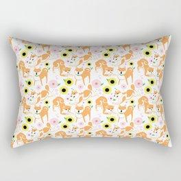Spring Shiba Rectangular Pillow