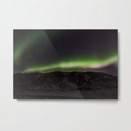 Northern Lights- Glow Metal Print