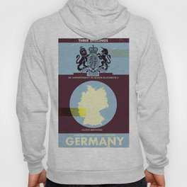 Germany vintage style travel cover. Hoody