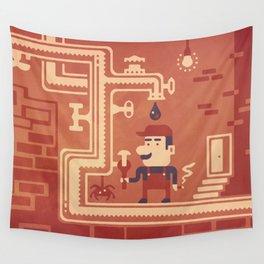 Mario at work Wall Tapestry
