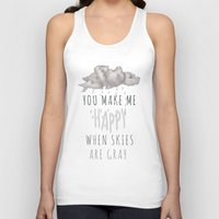 decal Tank Tops featuring You Make Me Happy by Charlene McCoy