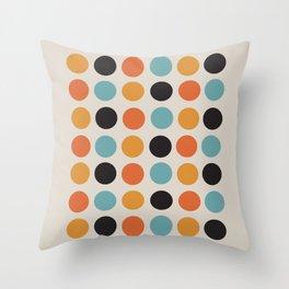 Bauhaus dots Throw Pillow