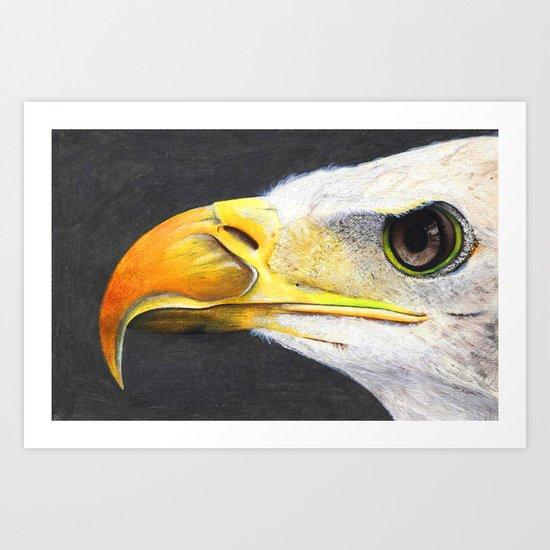 Eye Of An Eagle. Art Print