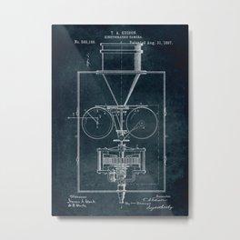 1897 Kinetographic Camera patent art Metal Print