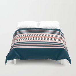 Colorful navy stripes Duvet Cover