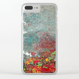 Abstract Distressed #3 Clear iPhone Case