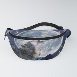 One Wolf Moon - Wildlife Art Fanny Pack