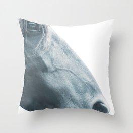 Horse head - fine art print n° 2, nature love, animal lovers, wall decoration, interior design, home Throw Pillow