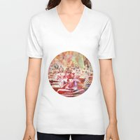 buddha V-neck T-shirts featuring Buddha   by LebensART