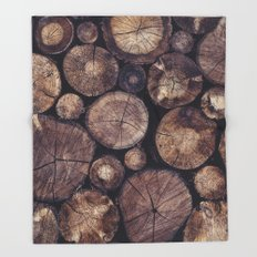 The Wood Holds Many Spirits // You Can Ask Them Now Edit Throw Blanket