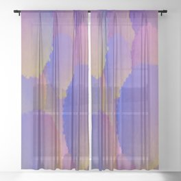 Purple Nuclear Fusion Sheer Curtain