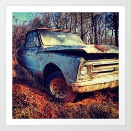 Junk Yard Chevy 10 Art Print