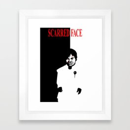 Scarred Face Framed Art Print