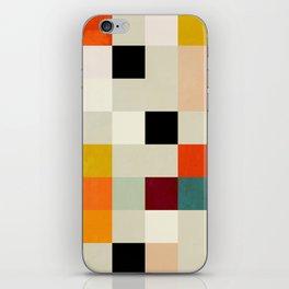 modern mid century chequers iPhone Skin