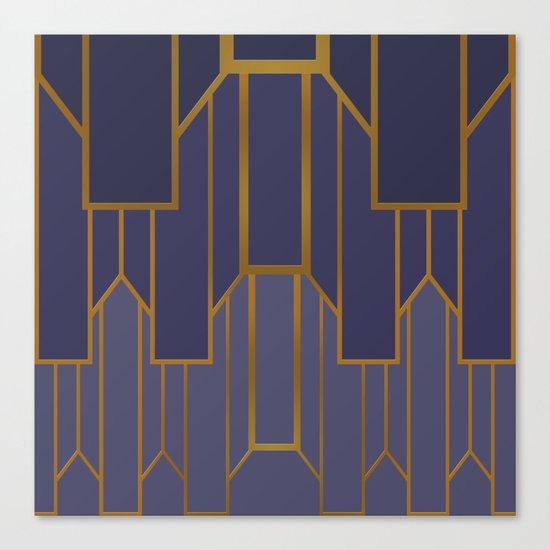 ART DECO G3 (abstract artdeco geometric) Canvas Print