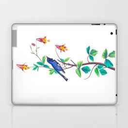 Blue Birds & Pastel Turquoise Leaves Laptop & iPad Skin