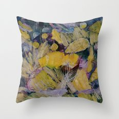 Gloden Harvest Collage Throw Pillow