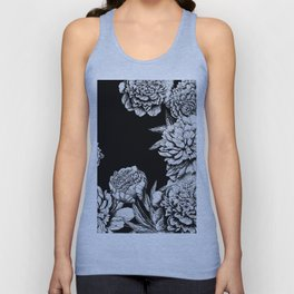 FLOWERS IN BLACK AND WHITE Unisex Tank Top