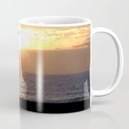 Playing Golf At Sunset Coffee Mug