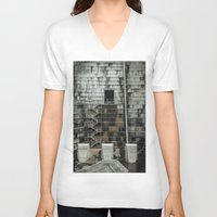 industrial V-neck T-shirts featuring Industrial  by Novella Photography
