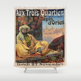 Vintage poster - Aux Trois Quartiers Shower Curtain