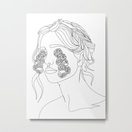floral tears III Metal Print
