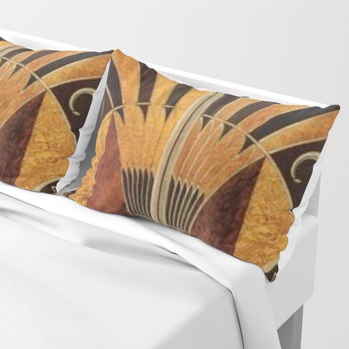 art deco wood Pillow Sham
