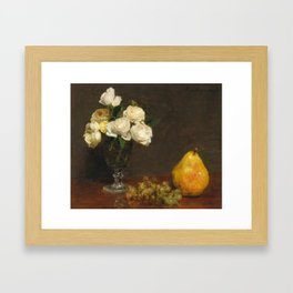 Henri Fantin-Latour - Still Life With Roses And Fruit Framed Art Print