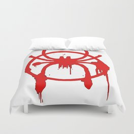 Spider-Man - Into The Spider-Verse - Spray paint logo Duvet Cover