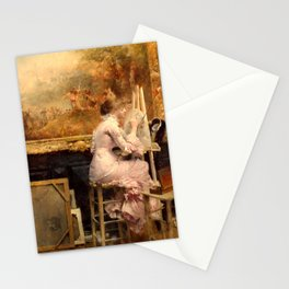 Pascal Dagnan-Bouveret - Watercolourist in the Louvre Stationery Cards