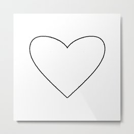 White Heart Metal Print