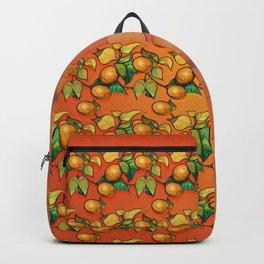 """Coral Sunset over Lemon tree Pattern"" Backpack"