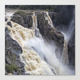 Enjoy the waterfall Canvas Print