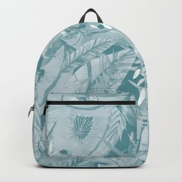 Retro Green Tropical Palm Garden Jungle Island Backpack