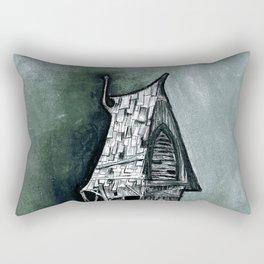 the haunted house Rectangular Pillow