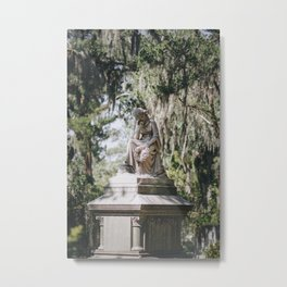 Bonaventure Cemetery - Statue of Eliza Wilhelmina Theus III Metal Print