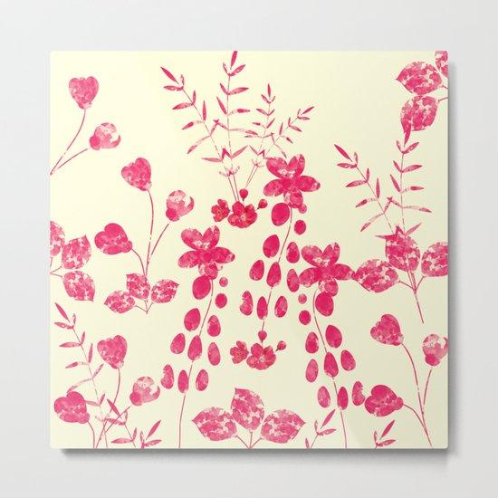 Watercolor floral garden  II Metal Print